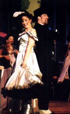 Paul Houghtaling as Njegus in  The Merry Widow with  Deborah Williamson as Valencienne